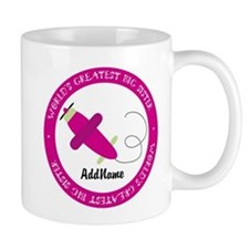 Pink Plane Big Sister Personalized Mug