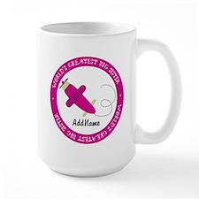 Pink Plane Big Sister Personalized Mug