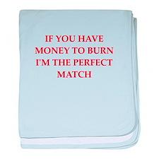 money to burn baby blanket