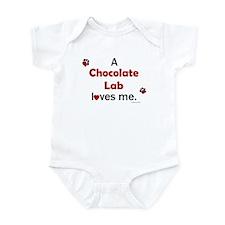Chocolate Lab Loves Me Infant Bodysuit