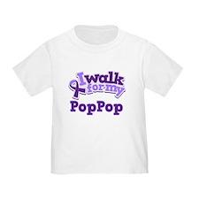 walk for pop pop purple poofy T-Shirt