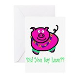 piggy luau Greeting Cards (Pk of 10)