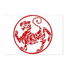shotokan - black tiger on red and white Postcards