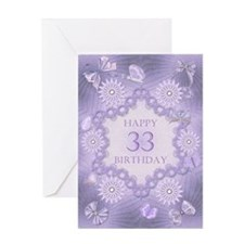 33rd birthday lilac dreams Greeting Cards