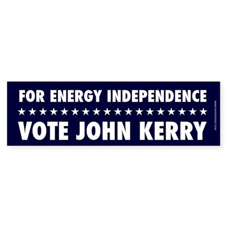 For Energy Independence Bumpersticker