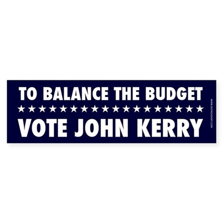 To Balance the Budget Bumpersticker