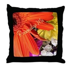 Personalized Flower Throw Pillow