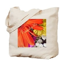 Personalized Flower Tote Bag