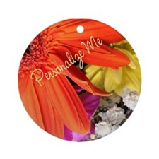 Personalized Flower Ornament (Round)