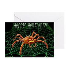 PUMPKIN SPIDER Greeting Cards