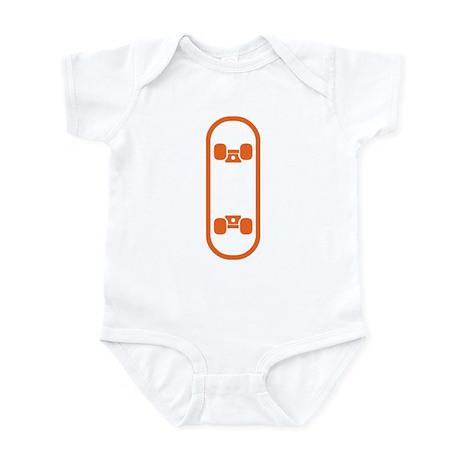Skateboard orange Infant Bodysuit