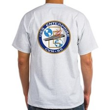 Uss Enterprise Logo On Back Cvn-65 T-Shirt