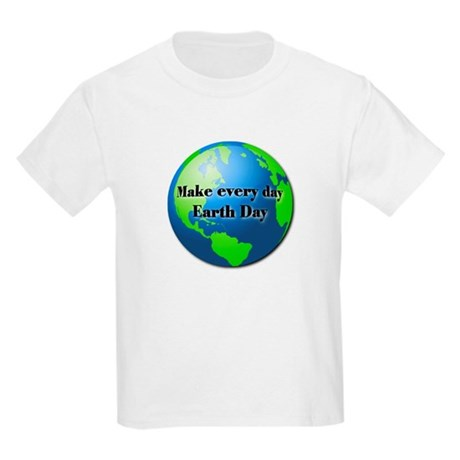 Make every day Earth Day Kids Light T-Shirt