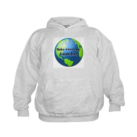 Make every day Earth Day Kids Hoodie