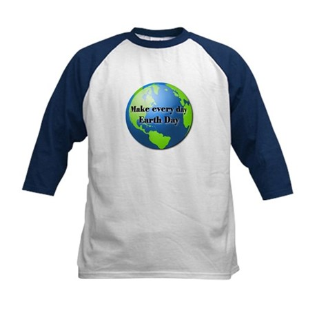 Make every day Earth Day Kids Baseball Jersey