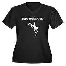 Custom Pole Vaulter Silhouette Plus Size T-Shirt