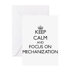 Keep Calm and focus on Mechanization Greeting Card