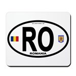Romania Intl Oval Mousepad