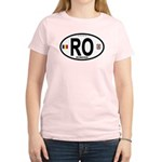 Romania Intl Oval Women's Light T-Shirt