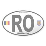 Romania Intl Oval Oval Decal