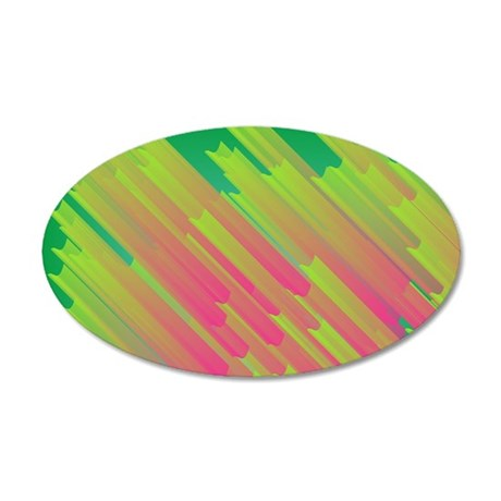 Abstract glowing structures Wall Decal