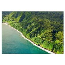 Hawaii, Maui, Aerial View Of The Road To Hana
