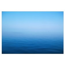 Calm Blue Water Disappearing Into Horizon
