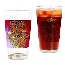 Cute Hamsa art Drinking Glass