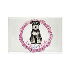 Cute Puppy kiss Rectangle Magnet