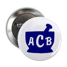"Blue Monogram Mortar and Pestle 2.25"" Button"