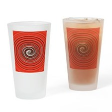 Bright Red Spiral Drinking Glass