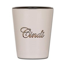 Gold Cindi Shot Glass