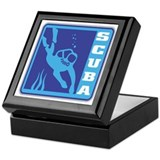 Scuba Blue Logo Keepsake Box