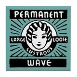 Permanent Wave Aqua Tile Coaster