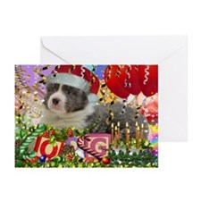 Border Collie Puppy Greeting Cards (Pk of 10)
