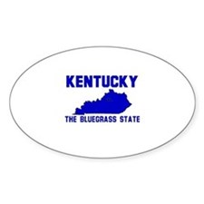 Kentucky . . . The Bluegrass Oval Stickers