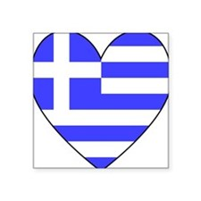 Greek Flag Heart Valentine Sticker