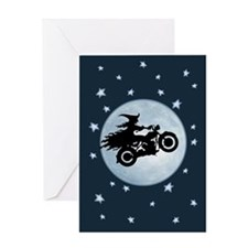 witch-biker-moon-CRD Greeting Cards