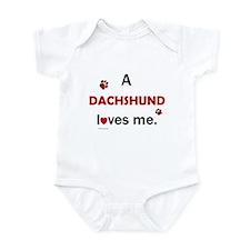 A Dachshund Loves Me Infant Bodysuit