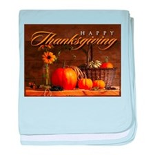 Cute Thanksgiving baby blanket