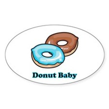 Donut Baby Oval Decal