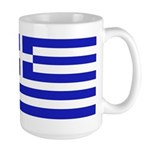 Greek Flag Large Mug