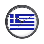 Greek Flag Wall Clock