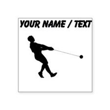Custom Hammer Throw Silhouette Sticker