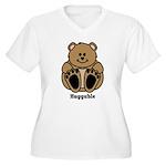 Huggable Bear Women's Plus Size V-Neck T-Shirt