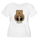 Huggable Bear Women's Plus Size Scoop Neck T-Shirt