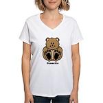 Huggable Bear Women's V-Neck T-Shirt
