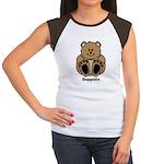Huggable Bear Women's Cap Sleeve T-Shirt