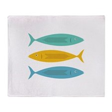 Stacked Fish Throw Blanket