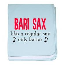 Bari Sax baby blanket